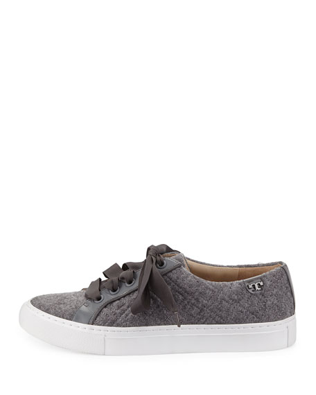 Marion Quilted Fleece Sneaker, Dove/Stone