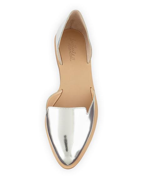 Prue Metallic d'Orsay Flat, Silver
