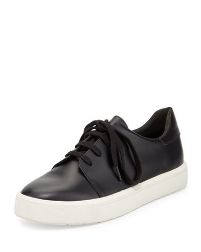 Bale Leather Low-Top Sneaker, Black
