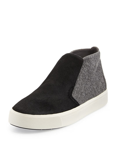 Beck-2 Calf-Hair Chukka Sneaker, Black/Ceramic