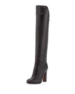 Dempsey Leather Over-the-Knee Boot, Black