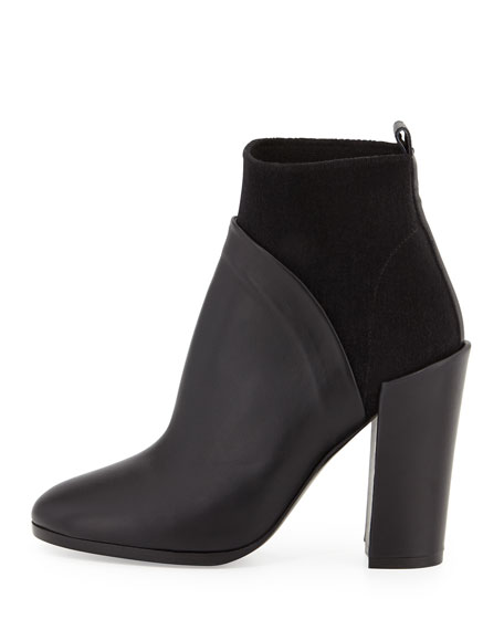 Emerson Stretch Ankle Bootie, Black