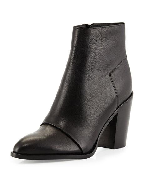 Sale alerts for  Vince Ennis Leather Ankle Boot, Black - Covvet