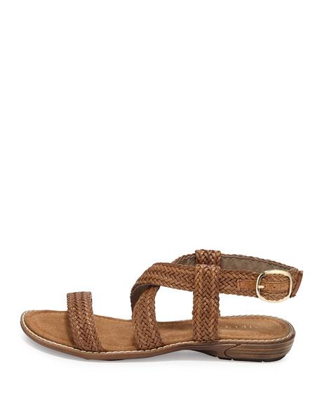 Basket Weave Strappy Sandal, Tan