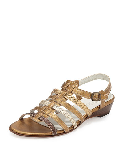 Georgie Strappy Woven Sandal, Multi Colors