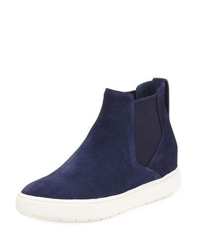 Newlyn Suede Sneaker Hybrid, Blue Marine