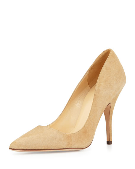 Shop MARION PARKE 11 CAMEL SUEDE STRAPPY MARY JANE