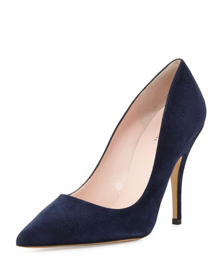kate spade new york licorice suede pointed