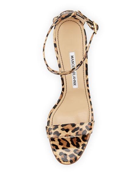 Chaos Leopard-Print Patent Sandal