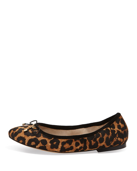 Felicia Leopard-Print Ballerina Flat, Leopard
