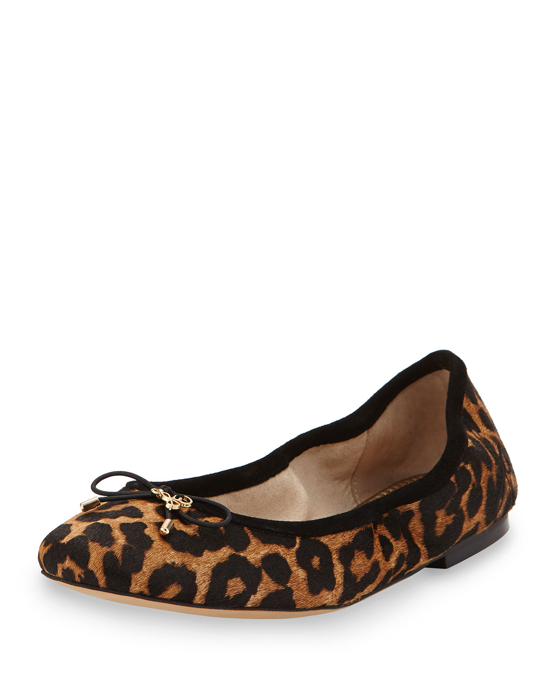 874f28184 Sam Edelman Felicia Leopard-Print Ballet Flat, Leopard | Neiman Marcus
