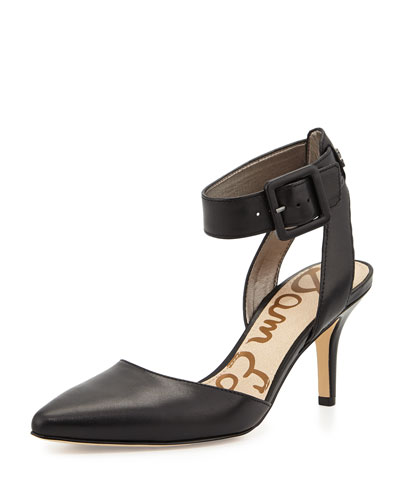 Okala Ankle-Strap Pump, Black