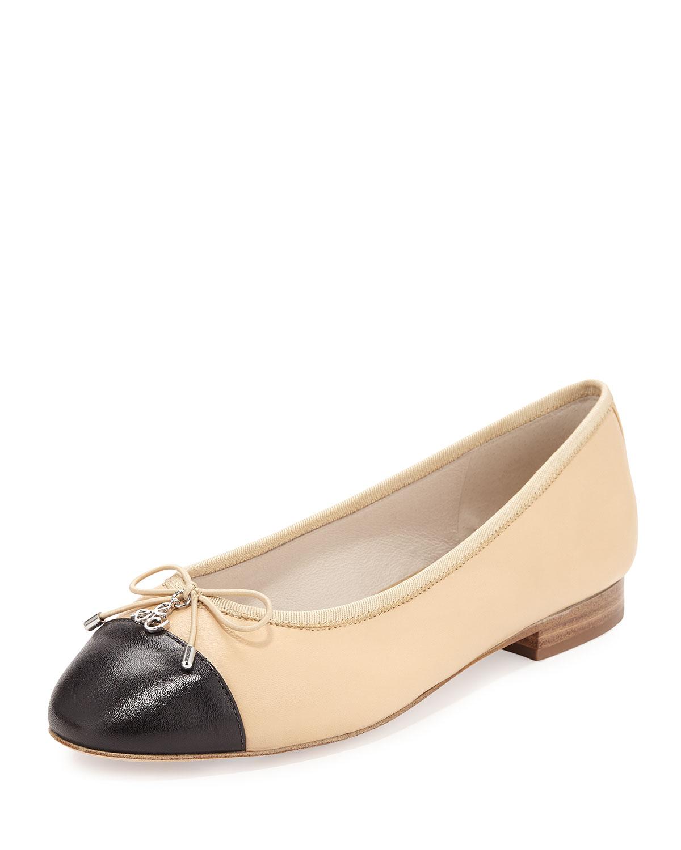 f55efeedfd571 Sam Edelman Sara Cap-Toe Ballerina Flat