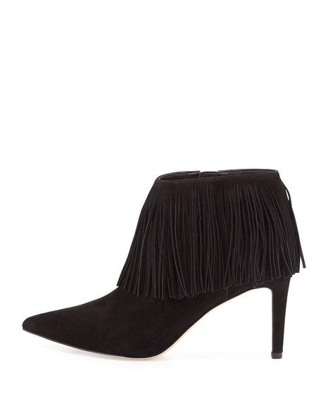 Kandice Fringe Ankle Boot, Black