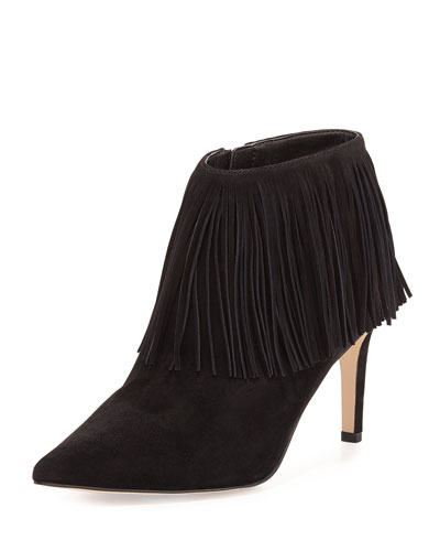 Kandice Fringe Ankle Boot, Black
