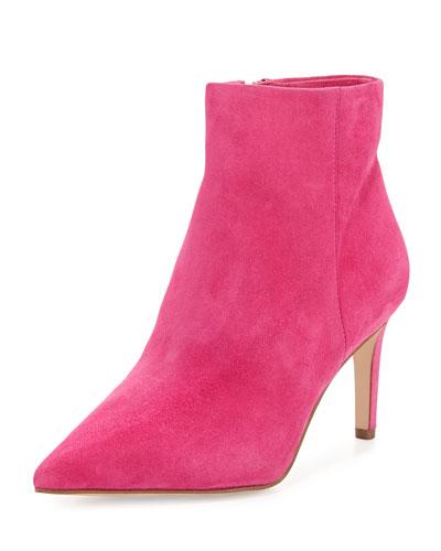 Karen Suede Ankle Bootie, Pink