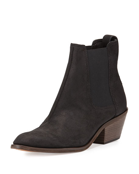 Rag & Bone Dixon Waxed Suede Ankle Boot, Black