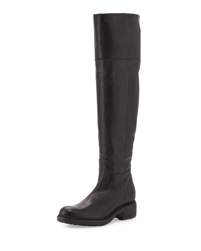 Nisa Leather Over-the-Knee Boot, Black (Nero)