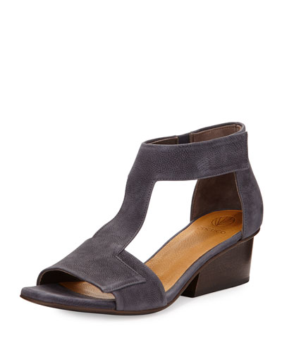 Ollie Leather City Sandal, Medium Blue