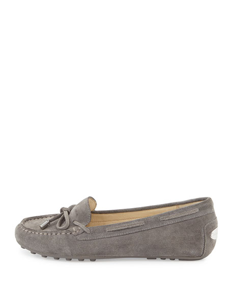 Daisy Suede Moccasin, Steel Gray