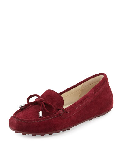 Daisy Suede Moccasin, Merlot