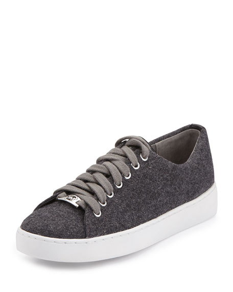 MICHAEL Michael Kors Keaton Flannel Low-Top Sneaker, Gray