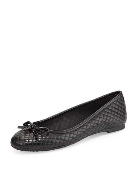 MICHAEL Michael Kors Melody Quilted Ballet Flat, Black