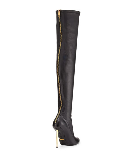 Over-the-Knee Napa Stretch Boot, Black