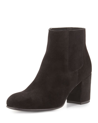 Xue Suede Ankle Bootie, Black