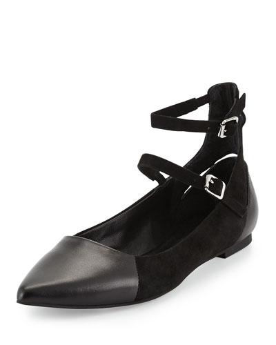 Finn Double-Ankle-Strap Flat