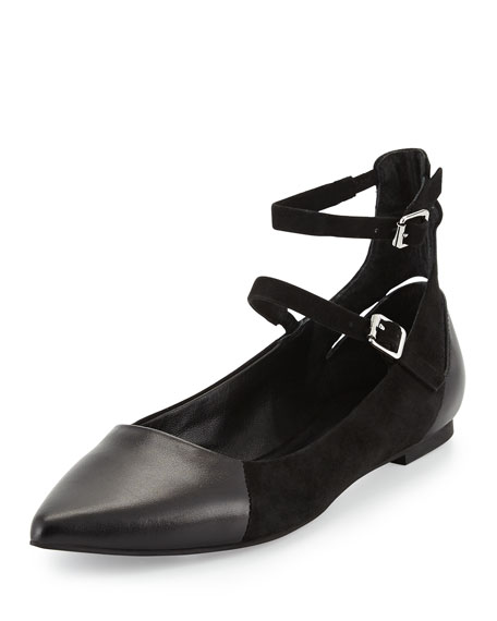 FINN TWO ANKLE STRAP FLAT
