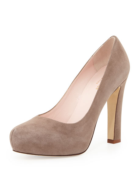 kate spade new york nessle suede platform pump,