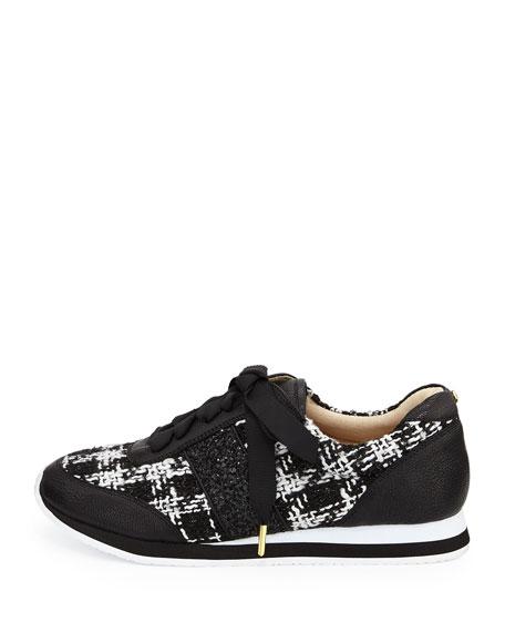 sidney tweed trainer sneaker, black