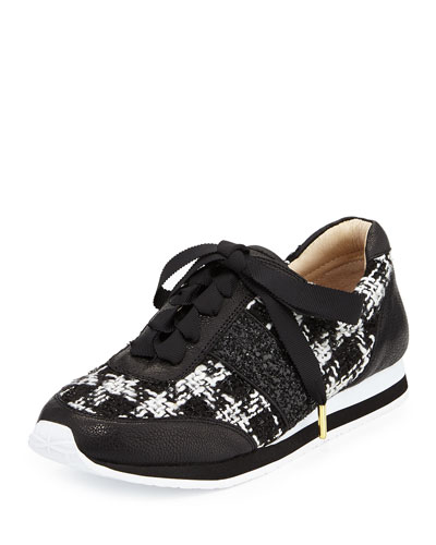 sidney tweed trainer sneaker, black