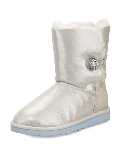 I Do! Bailey Swarovski® Crystal Bridal Boot, White