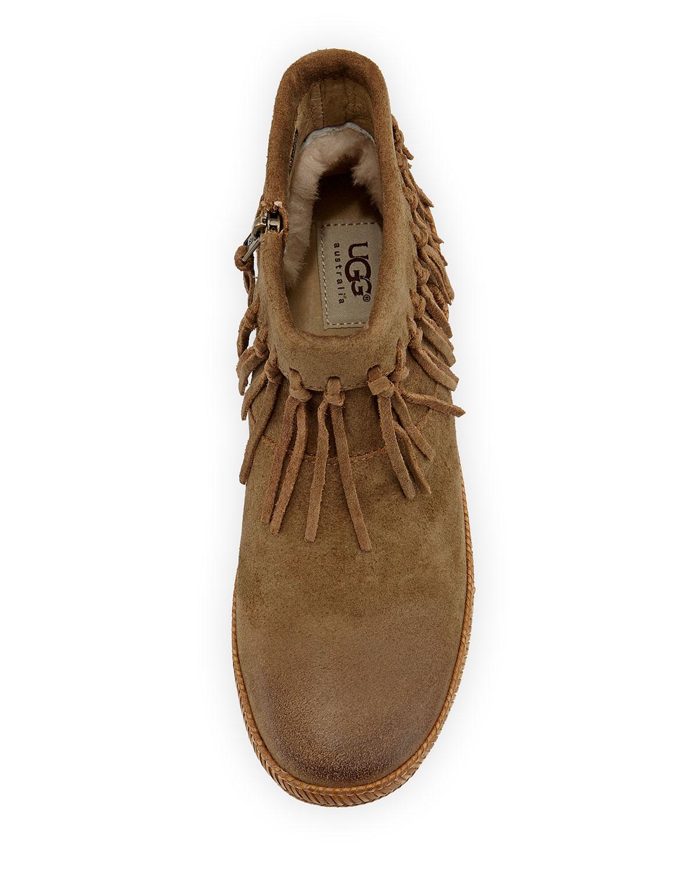 c2fe349c46c Shenandoah Fringe Suede Ankle Boot, Sugar Pine Chest