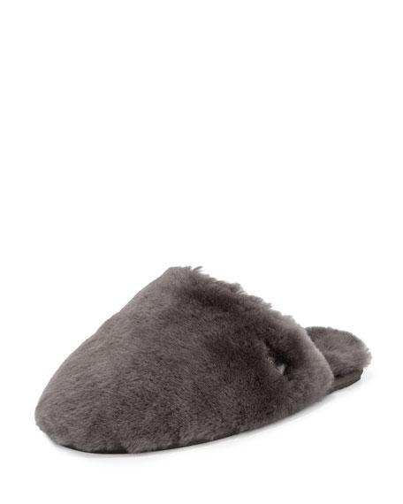 UGG Fluff Shearling Clog Slipper, Gray