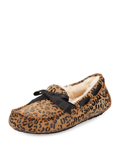 Dakota Leopard Bow-Tie Slipper