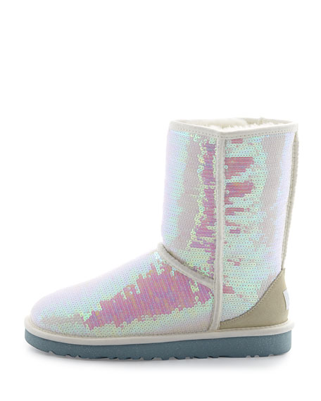 I Do! Sparkles Tall Boot, White