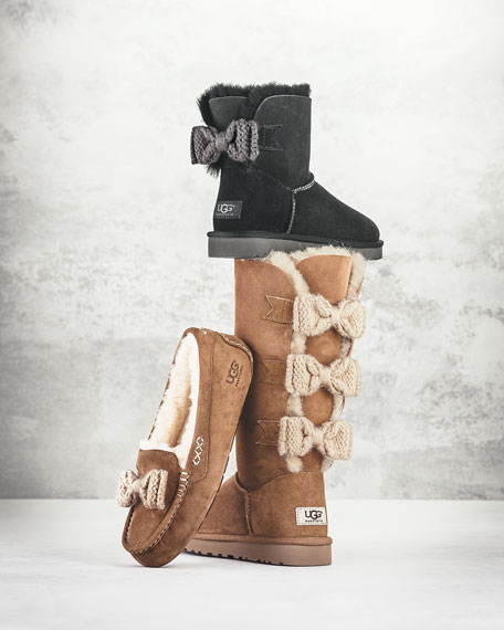 Mini Bailey Knit-Bow Boot