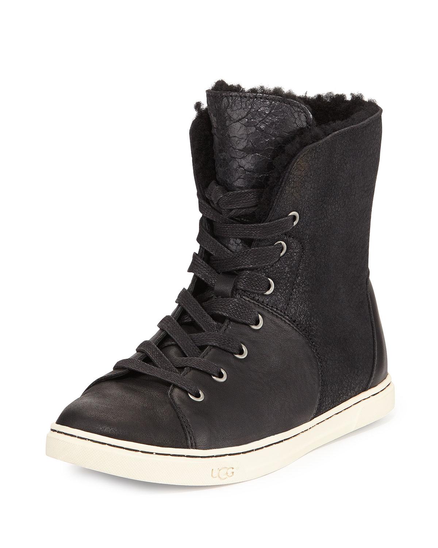UGG Croft Fur-Lined High-Top Sneaker