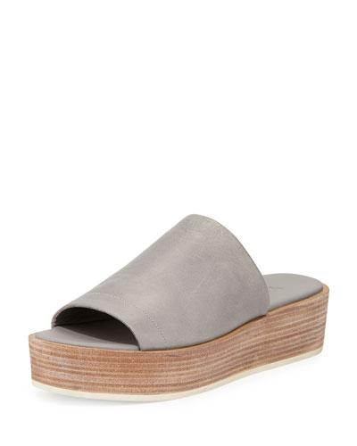 Saskia Platform Wedge Sandal, Truffle