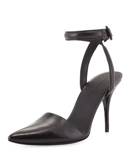 Lovisa Leather d'Orsay Pump, Black