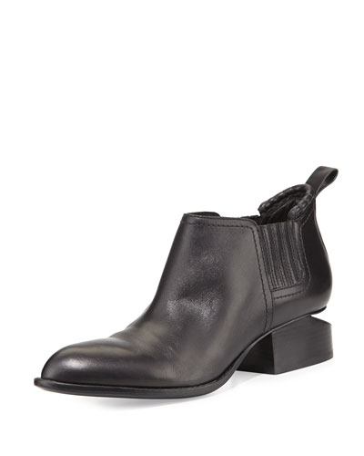 Alexander Wang Kori Leather Tilt-Heel Boot, Black