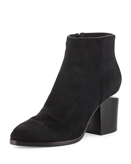 Alexander Wang Gabi Calf-Hair Ankle Bootie, Black