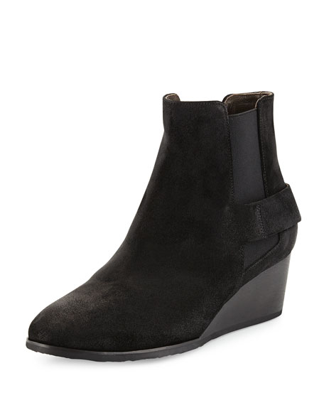 Coclico Oddly Suede Wedge Bootie, Hammer Black