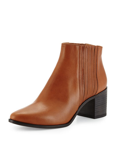 Zag Gored Ankle Bootie, Cognac