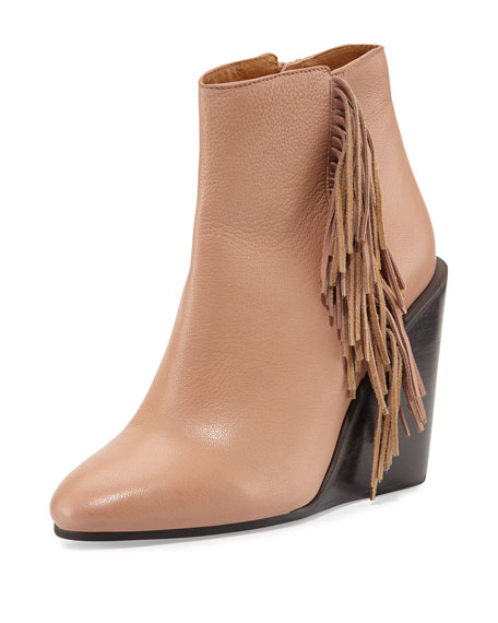 See by Chloe Epona Fringe Wedge Bootie, Biscotto