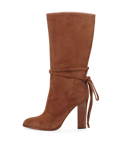 SJP by Sarah Jessica Parker Jade Suede Mid-Calf Boot, Cinnamon