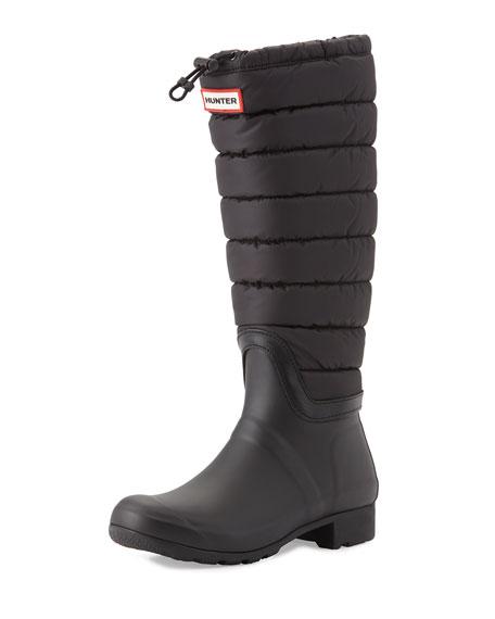 Hunter BootOriginal Quilted Rain Boot, Black